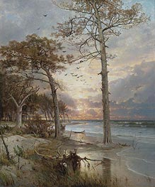 At Atlantic City, 1877 by William Trost Richards | Painting Reproduction