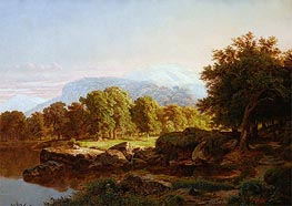Summer Landscape, 1859 by William Trost Richards | Painting Reproduction