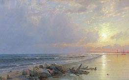 Sunset on the New Jersey Coast, 1872 by William Trost Richards | Painting Reproduction
