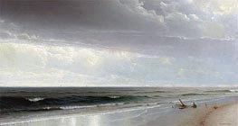 Newport Beach, 1873 von William Trost Richards | Gemälde-Reproduktion