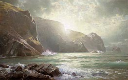 Cornish Coastline, undated von William Trost Richards | Gemälde-Reproduktion