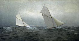 20 Miles to Windward (1885 America's Cup Race), 1885 von William Trost Richards | Gemälde-Reproduktion