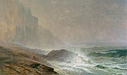 Coast of Cornwall, 1869 von William Trost Richards | Gemälde-Reproduktion