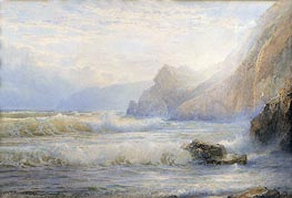 Crashing Waves, 1899 von William Trost Richards | Gemälde-Reproduktion