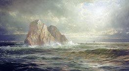 The Skelligs, Coast of Ireland, 1893 von William Trost Richards | Gemälde-Reproduktion