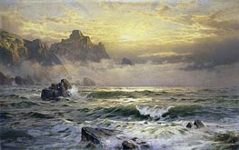Mornings Mist, Guernsey, 1898 von William Trost Richards | Gemälde-Reproduktion