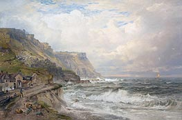 Portland Bill, England, c.1885/90 von William Trost Richards | Gemälde-Reproduktion