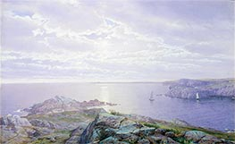 Rocky Cove, 1876 by William Trost Richards | Painting Reproduction
