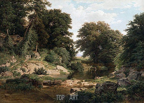 Woodland Brook, 1861 | William Trost Richards | Painting Reproduction