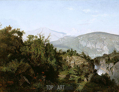 In the Adirondack Mountains, 1857 | William Trost Richards | Gemälde Reproduktion