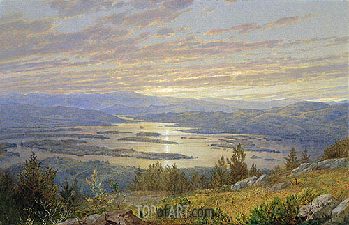 Lake Squam from Red Hill, 1874 | William Trost Richards | Gemälde Reproduktion