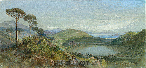 Lago Avernus, c.1867/70 | William Trost Richards | Painting Reproduction