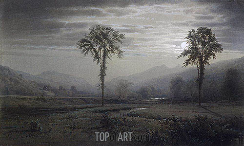 Moonlight on Mount Lafayette, New Hampshire, 1873 | William Trost Richards | Painting Reproduction