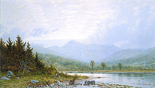 Sunset on Mount Chocorua, New Hampshire, 1872 | William Trost Richards | Painting Reproduction