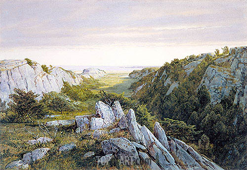 From Paradise to Purgatory, Newport, 1878 | William Trost Richards | Gemälde Reproduktion