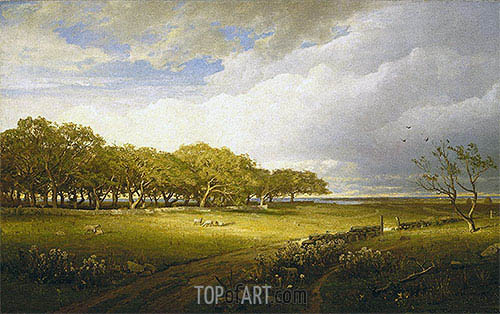 Old Orchard at Newport, 1875 | William Trost Richards | Gemälde Reproduktion