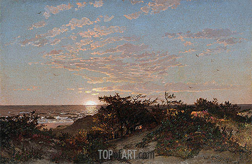 Coastal Scene, 1862 | William Trost Richards | Painting Reproduction