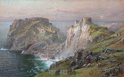 Tintagel, 1881 | William Trost Richards | Gemälde Reproduktion