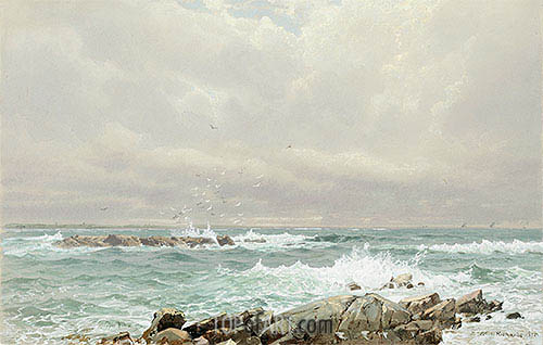 Seascape, 1875 | William Trost Richards | Gemälde Reproduktion