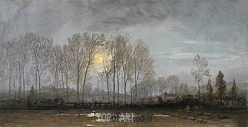 Moonlit Landscape, undated | William Trost Richards | Gemälde Reproduktion