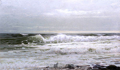 Seascape, c.1890 | William Trost Richards | Gemälde Reproduktion