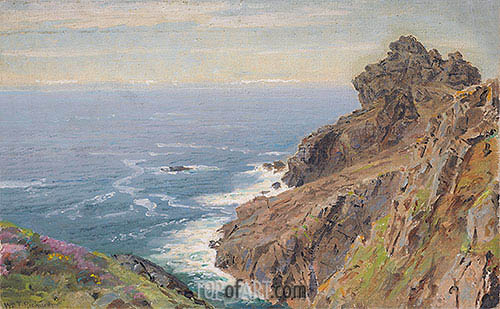 Coast Near Boscastle, Cornwall, c.1878/79 | William Trost Richards | Painting Reproduction