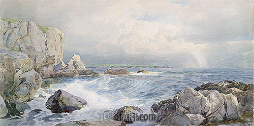 Rocks and Cliffs near the Sea, c.1885/90 | William Trost Richards | Painting Reproduction