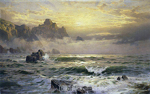 Mornings Mist, Guernsey, 1898 | William Trost Richards | Painting Reproduction