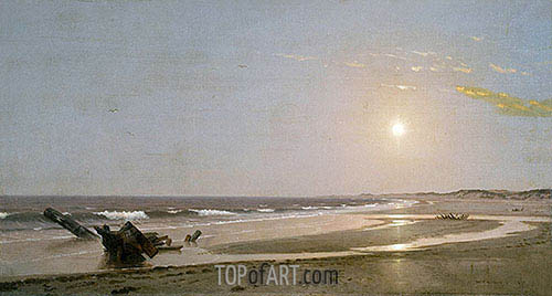 Seascape, 1870 | William Trost Richards | Painting Reproduction