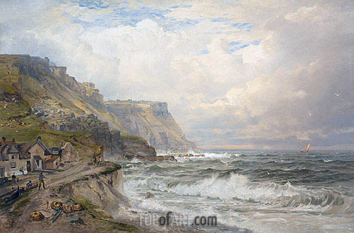 Portland Bill, England, c.1885/90 | William Trost Richards | Painting Reproduction