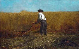 The Veteran in a New Field, 1865 von Winslow Homer | Gemälde-Reproduktion