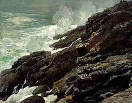 High Cliff, Coast of Maine, 1894 von Winslow Homer | Gemälde-Reproduktion
