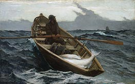 The Fog Warning, 1885 by Winslow Homer | Painting Reproduction
