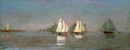 Gloucester, Mackerel Fleet at Dawn, 1884 von Winslow Homer | Gemälde-Reproduktion
