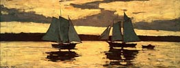 Gloucester, Mackerel Fleet at Sunset | Winslow Homer | Painting Reproduction
