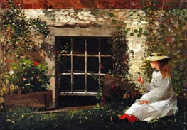 The Four-Leaf Clover, 1873 von Winslow Homer | Gemälde-Reproduktion