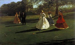 Croquet Players, 1865 von Winslow Homer | Gemälde-Reproduktion