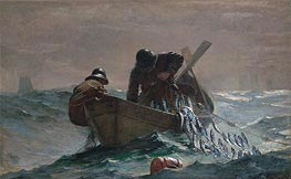 The Herring Net, 1885 by Winslow Homer | Painting Reproduction