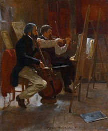 The Studio | Winslow Homer | Gemälde Reproduktion