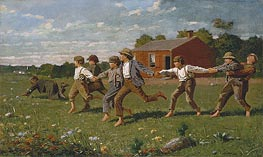 Snap the Whip | Winslow Homer | Painting Reproduction