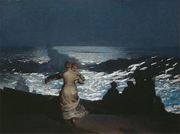 A Summer Night | Winslow Homer | Painting Reproduction