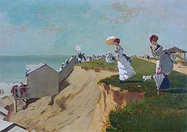 Long Branch, New Jersey, 1869 by Winslow Homer | Painting Reproduction