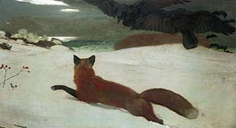 Fox Hunt, 1893 by Winslow Homer | Painting Reproduction
