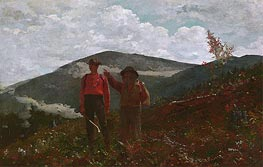 The Two Guides, 1876 by Winslow Homer | Painting Reproduction