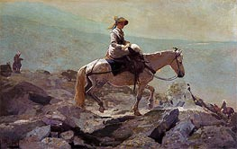 The Bridle Path, White Mountains, 1868 by Winslow Homer | Painting Reproduction