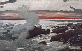 West Point, Prout's Neck, 1900 by Winslow Homer | Painting Reproduction