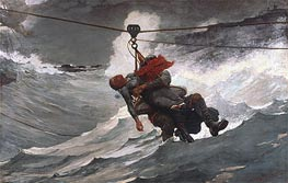 The Life Line, 1884 by Winslow Homer | Painting Reproduction