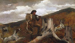 A Huntsman and Dogs, 1891 by Winslow Homer | Painting Reproduction