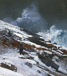 Winter Coast, 1890 by Winslow Homer | Painting Reproduction