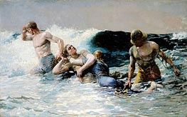 Undertow, 1886 by Winslow Homer | Painting Reproduction